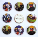 Naruto 3 cm pin badge new