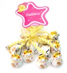 yellow white lucky cat ring