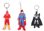 batman superman flash man keychain