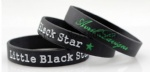 little black star silicone bracelet