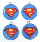 superman round pendant