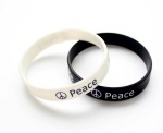 love peace words letters silicone bracelet