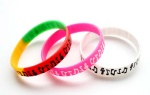 musical note silicone bracelet