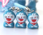 Doraemon Anime Cartoon Strap & Bell Charms 3-Style
