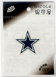 NFL Team Dallas Cowboys DIY Patch Sticker