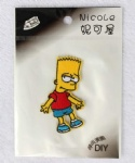 Animation The Simpsons Logo DIY Fabric Patch Sticker