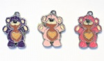 Cartoon Cute Heant Bear Metal Pendants