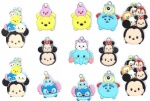 Disney Character Tsum Metal Pendants Black/White