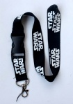 Star Wars White Logo Lanyard/Strap with buckle Black
