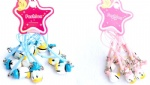 Disney Character Donald Duck Strap & Bell Charms Blue/Pink