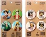 Anime Cartoon ONE PIECE 4.3CM Badge and Buttons