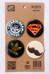 Brand Names Logo 4.3CM Cartoon Badge and Buttons