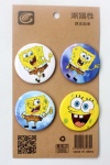 Animation The SpongeBob Movie 4.3CM Cartoon Badge and Buttons
