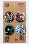 Anime Attack on Titan 4.3CM Cartoon Badge and Buttons