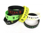 Drink Monster Energy Logo Wristband Silicone Bracelets