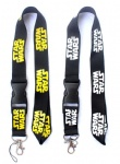 Star Wars Lanyard Black Yellow White
