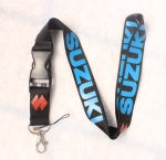 SUZUKI lanyard black/blue/red
