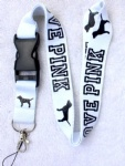 Love Pink Lanyard White/Black