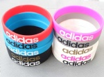 Adidas Sports Silicone Wristband Bracelet Narrow
