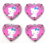 Hello Kitty Heart enamel pendant enamel charms