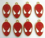 Spider-man Red Jewelry Making Metal Charm pendants