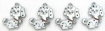 spotty dog DIY Metal Charms Jewelry Making