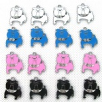 Bulldog Jewelry Making Metal Charm pendants
