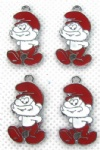 Papa Smurf Jewelry Making Metal Charm pendants