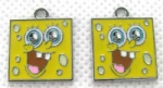 Spongebob Jewelry Making Metal Charm pendants