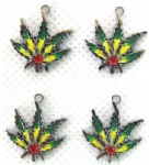 maple leaf Jewelry Making Metal Charm pendants