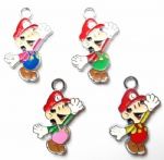Luigi Mario Metal Charms pendants DIY Jewellery Making