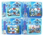 The Smurfs Cartoon Wallets With Watch Cute Children Cheap Watches