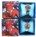 Spiderman Lovely Kids Watch Cartoon Quartz Watch with Box